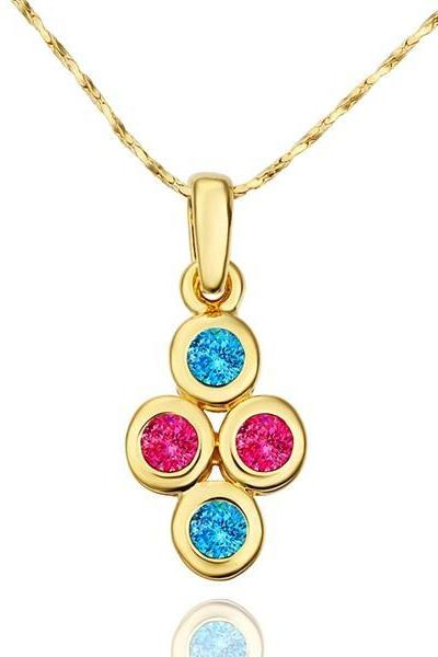 Jenny Jewelry N602 18K Real Gold Plated Necklace pendantsNew Fashion JewelryFor Women