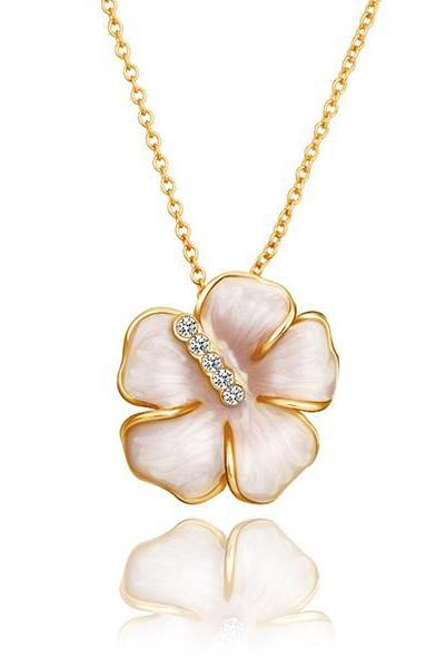 Jenny Jewelry N650 18K Real Gold Plated Necklace pendantsNew Fashion JewelryFor Women