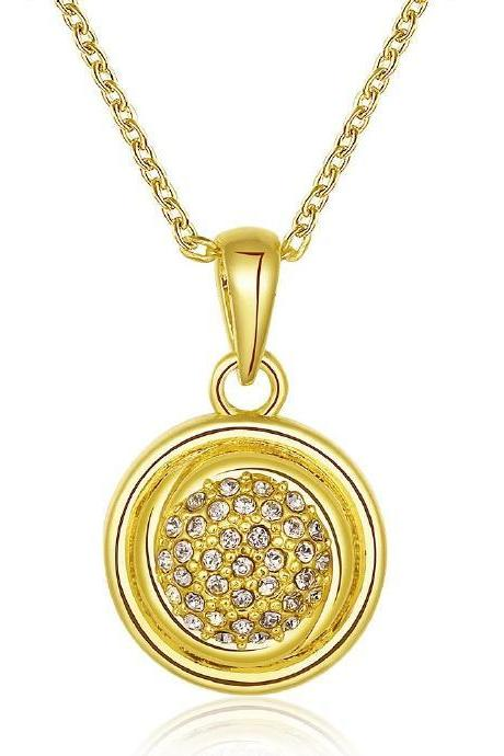Jenny Jewelry N807-A 18K Real Gold Plated Necklace pendants New Fashion