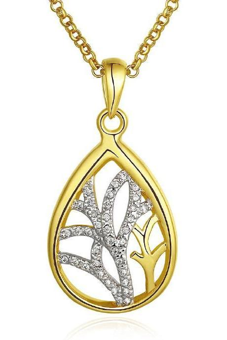 Jenny Jewelry N811-A 18K Real Gold Plated Necklace pendants New Fashion Jewelry
