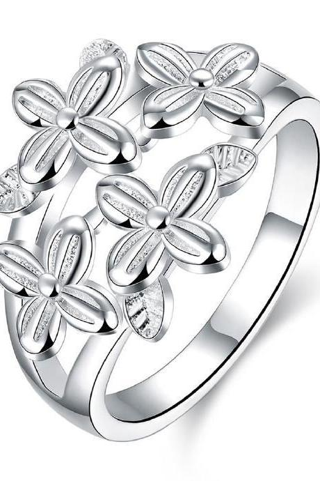 Jenny Jewelry R763 Silver Plated New Design Lady Ring ,Available Size 7,8