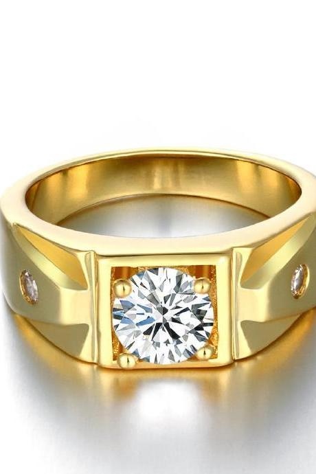 Jenny Jewelry R134-A-8 High Quality New Fashion Jewelry 24K Plated zircon Ring