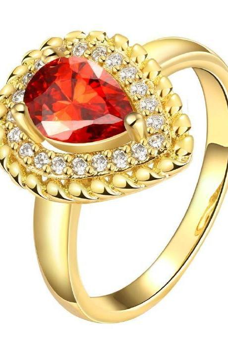 Jenny Jewelry R143-A-8 High Quality New Fashion Jewelry 24K Plated zircon Ring