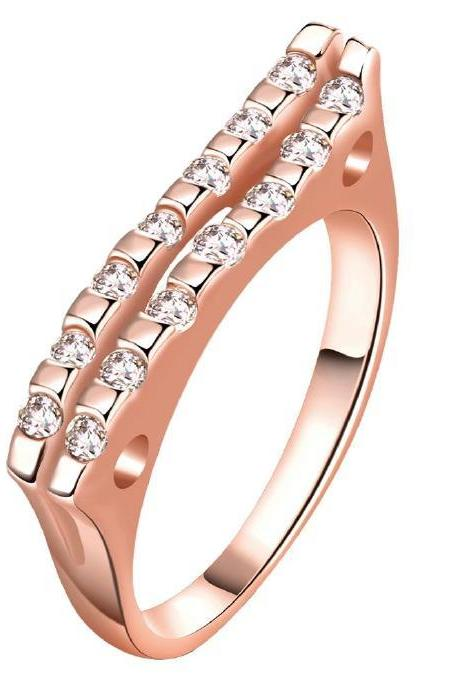 Jenny Jewelry R172-A-8 High Quality New Fashion Jewelry 18K Plated zircon Ring