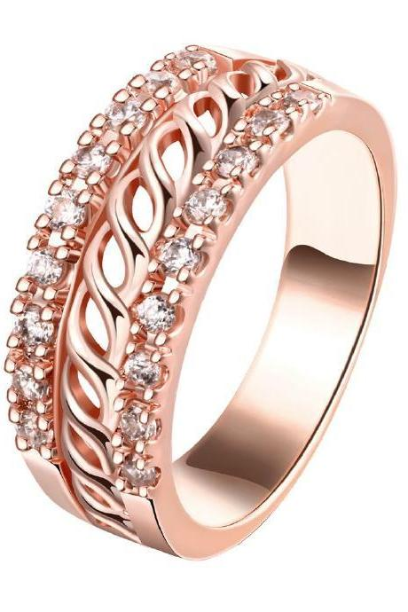 Jenny Jewelry R176-A-8 High Quality New Fashion Jewelry 18K Plated zircon Ring