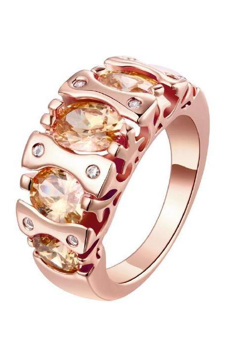 Jenny Jewelry R179-A-8 High Quality New Fashion Jewelry 18K Plated zircon Ring