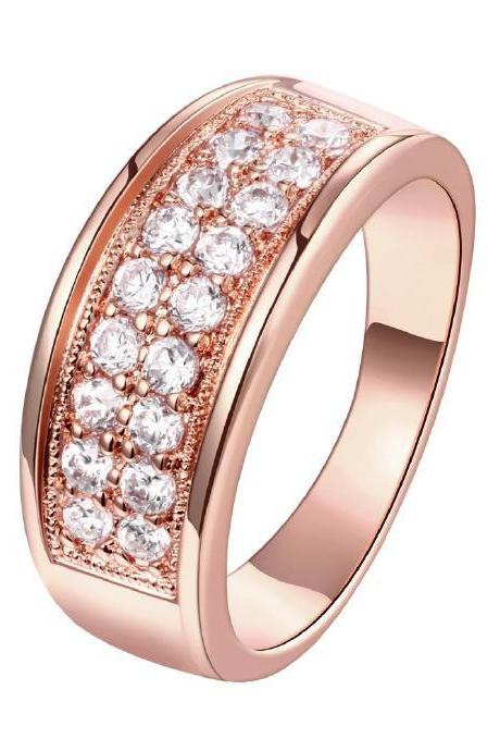 Jenny Jewelry R193-A-8 High Quality New Fashion Jewelry 18K Plated zircon Ring