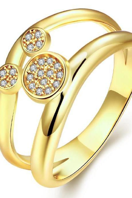 Jenny Jewelry R259-A-8 High Quality New Fashion Jewelry White Plated zircon Ring