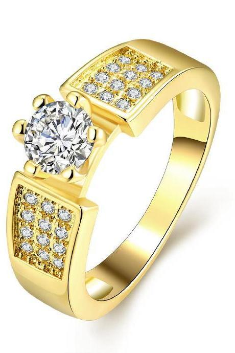 Jenny Jewelry R332-A High Quality New Fashion Jewelry White Plated zircon Ring