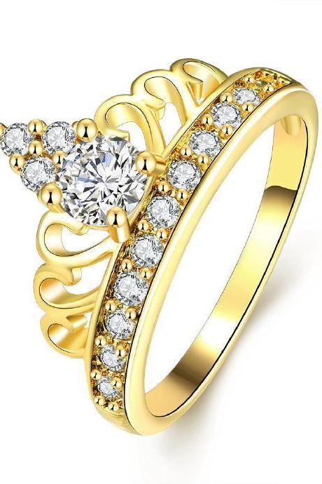 Jenny Jewelry R333-A High Quality New Fashion Jewelry White Plated zircon Ring