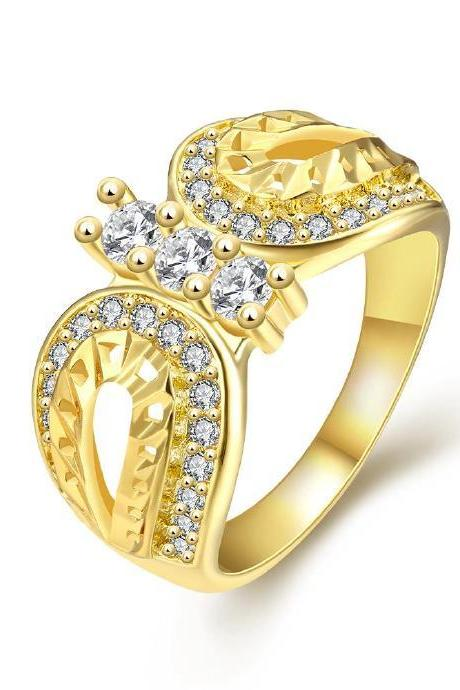 Jenny Jewelry R360-A-8 High Quality New Fashion Jewelry White Plated zircon Ring