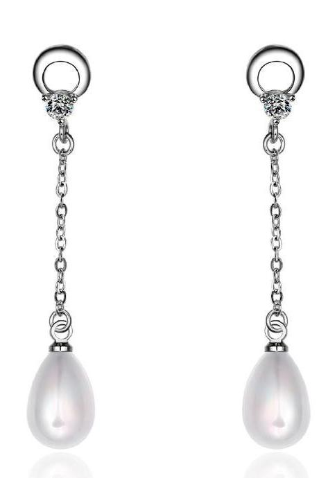 Jenny Jewelry E037 Brilliant Tiny Artificial Pearl Earring
