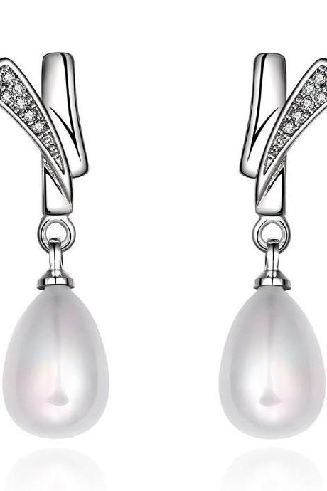 Jenny Jewelry E043 Brilliant Tiny Artificial Pearl Earring