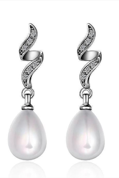 Jenny Jewelry E052 Brilliant Tiny Artificial Pearl Earring
