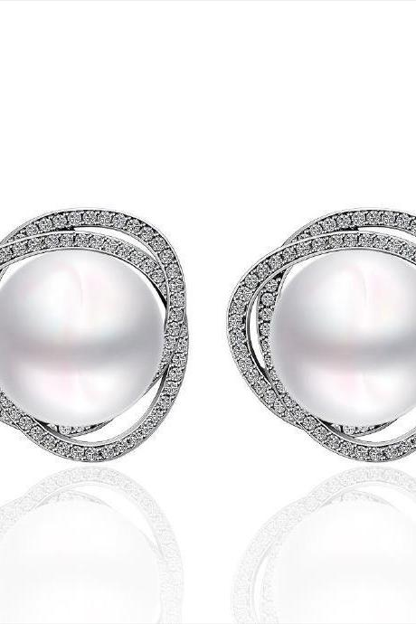 Jenny Jewelry E053 Brilliant Tiny Artificial Pearl Earring