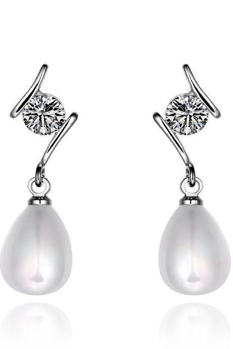 Jenny Jewelry E054 Brilliant Tiny Artificial Pearl Earring