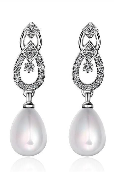 Jenny Jewelry E058 Brilliant Tiny Artificial Pearl Earring