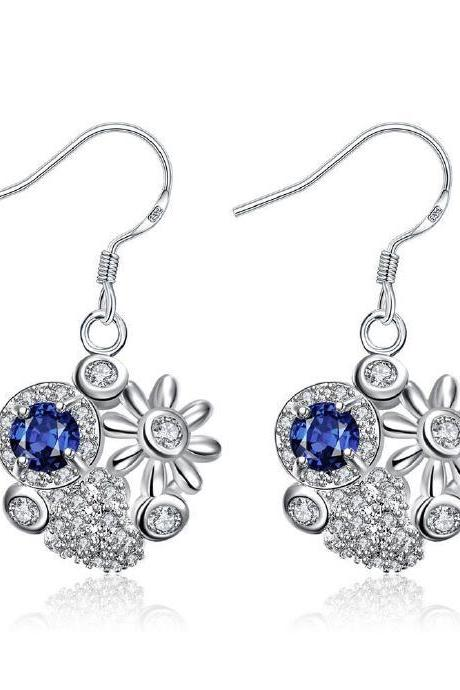 Jenny Jewelry E024-A New Fashion New Style Jewelry Silver Plated Earring