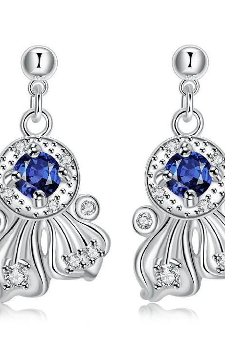 Jenny Jewelry E040-A New Fashion New Style Jewelry Silver Plated Earring
