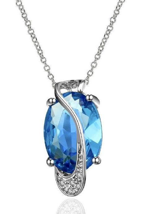 Jenny Jewelry FVRN003 Fashion High End Platinum Plating Ladies Necklace Crystal Pendant
