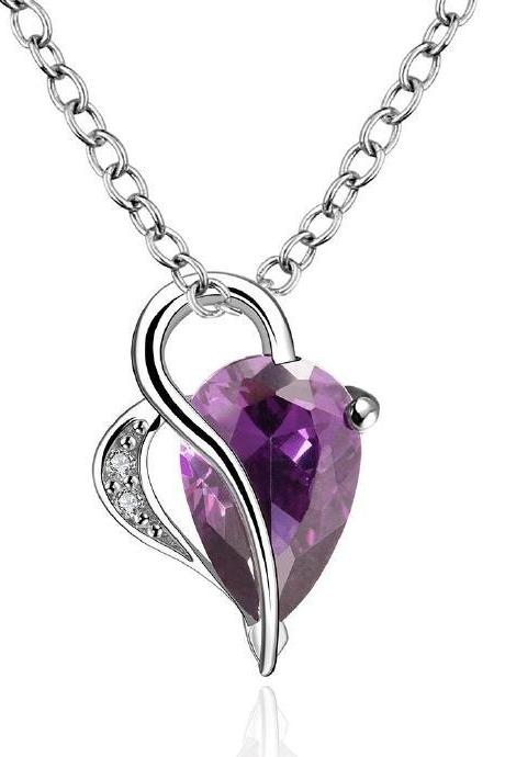 Jenny Jewelry FVRN024 Fashion High End Platinum Plating Ladies Necklace Crystal Pendant