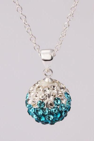 Jenny Jewelry N055 Mix color jewelries necklace pendant Necklace Crystal Silver jewelry for women
