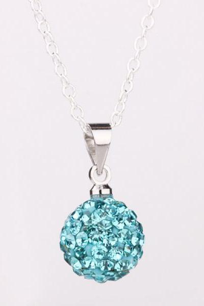 Jenny Jewelry P002 Mix color jewelries necklace pendant Necklace Crystal Silver jewelry for women