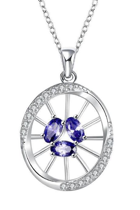 Jenny Jewelry N025-A Silver plated necklace brand new design pendant necklaces jewelry for women
