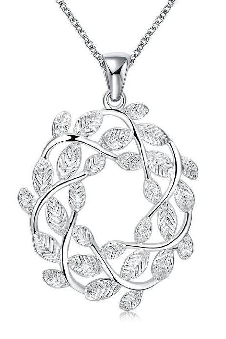 Jenny Jewelry N029-A Silver plated necklace brand new design pendant necklaces jewelry for women