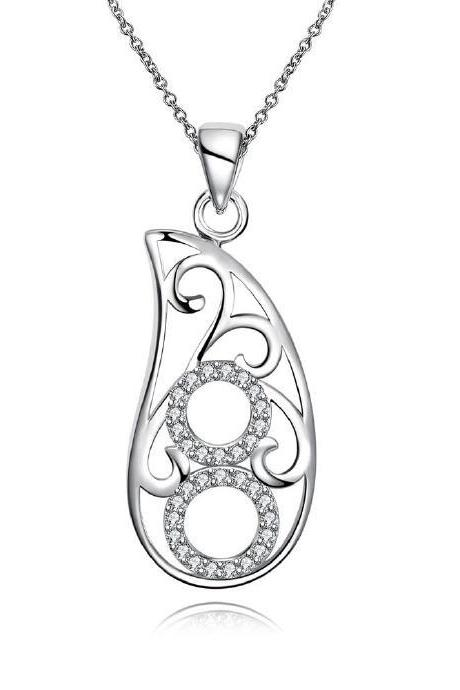 Jenny Jewelry N030-A High Quality New Style Fashion Jewelry Silver Plating Necklace