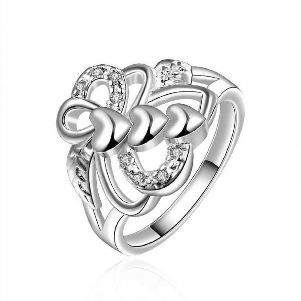 Silver Plated New Design Lady Ring ,Available Size 8
