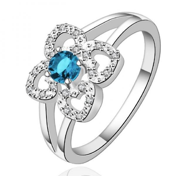 Jenny Jewelry R567 Silver Plated New Design Lady Ring