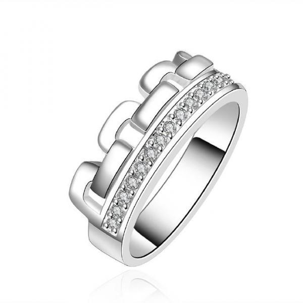 Jenny Jewelry R602 Silver Plated New Design Lady Ring