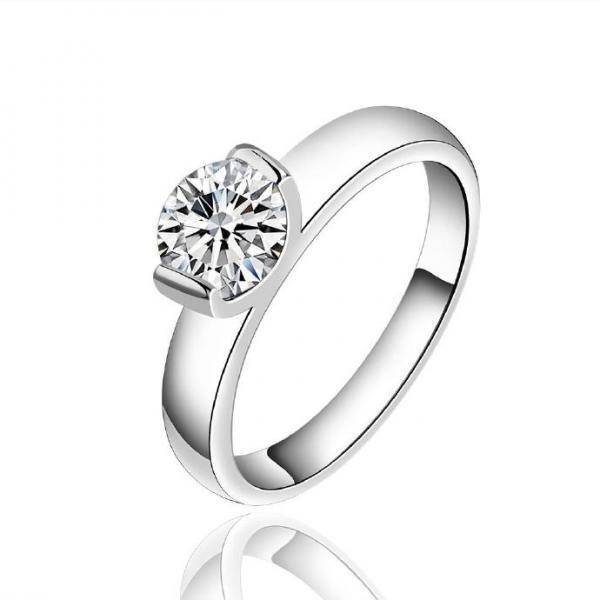 Jenny Jewelry R603 Silver Plated New Design Lady Ring