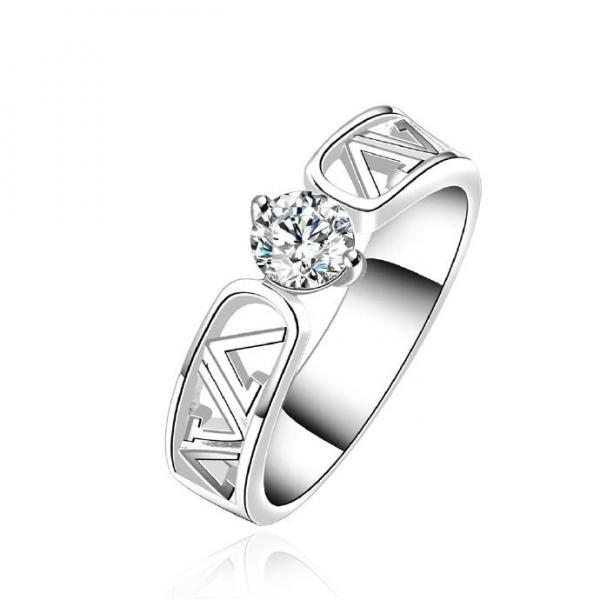 Jenny Jewelry R605 Silver Plated New Design Lady Ring
