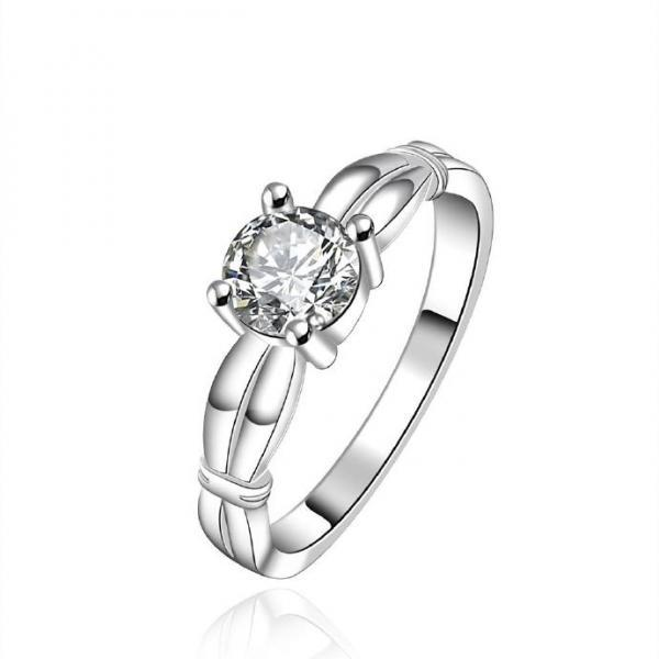 Jenny Jewelry R607 Silver Plated New Design Lady Ring