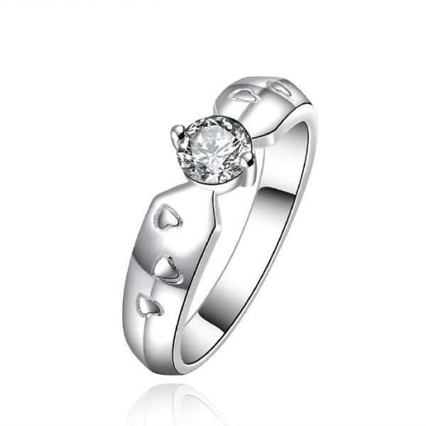 Jenny Jewelry R609 Silver Plated New Design Lady Ring