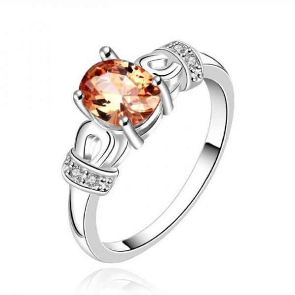 Jenny Jewelry R645-A Silver Plated New Design Lady Ring