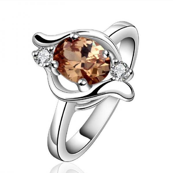 Jenny Jewelry R646-A Silver Plated New Design Lady Ring