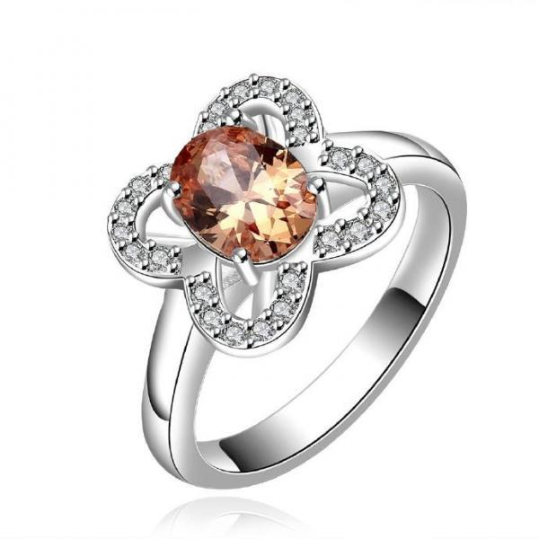 Jenny Jewelry R647-A Silver Plated New Design Lady Ring
