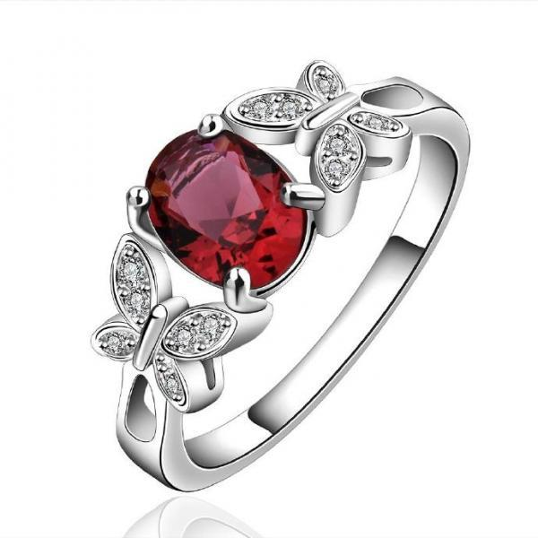 Jenny Jewelry R648-A Silver Plated New Design Lady Ring