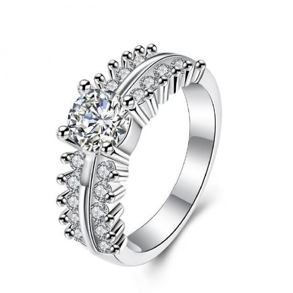 Jenny Jewelry R713 Hot sale Newest Princess silver Wedding Rings