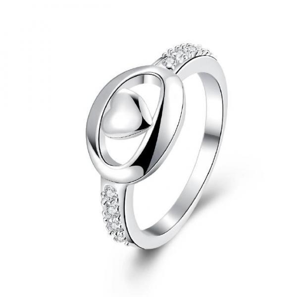 Jenny Jewelry R714 Silver Plated New Design Lady Ring
