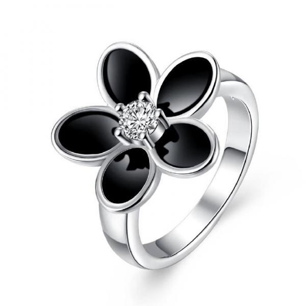 Jenny Jewelry R735 Silver Plated New Design Lady Ring