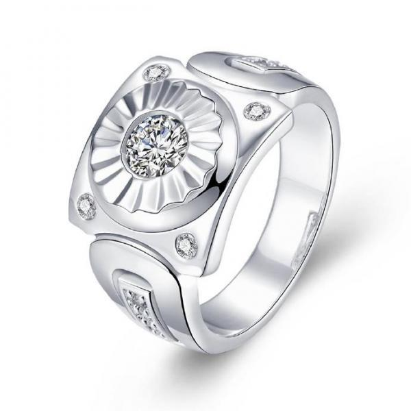 Jenny Jewelry R736 Silver Plated New Design Lady Ring