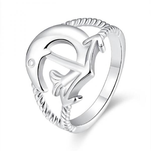 Jenny Jewelry R737 Silver Plated New Design Lady Ring
