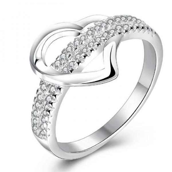 Jenny Jewelry R749 Silver Plated New Design Lady Ring