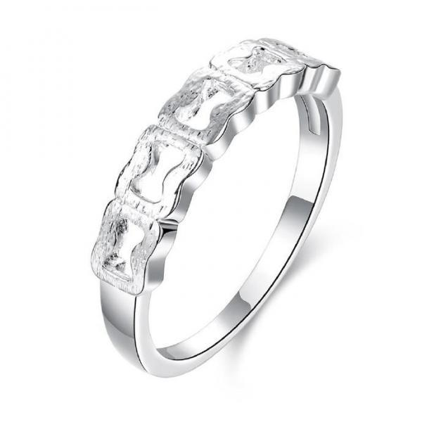Jenny Jewelry R751 Silver Plated New Design Lady Ring