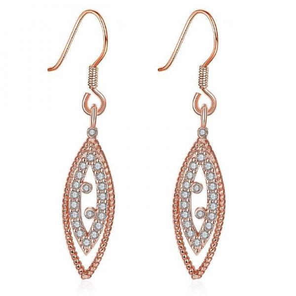 Jenny Jewelry E009-B 18K Gold Plating High Quality Ziccon Fashion Earring