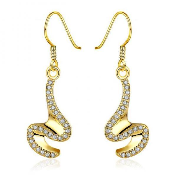 Jenny Jewelry E012-A 18K Gold Plating High Quality Ziccon Fashion Earring